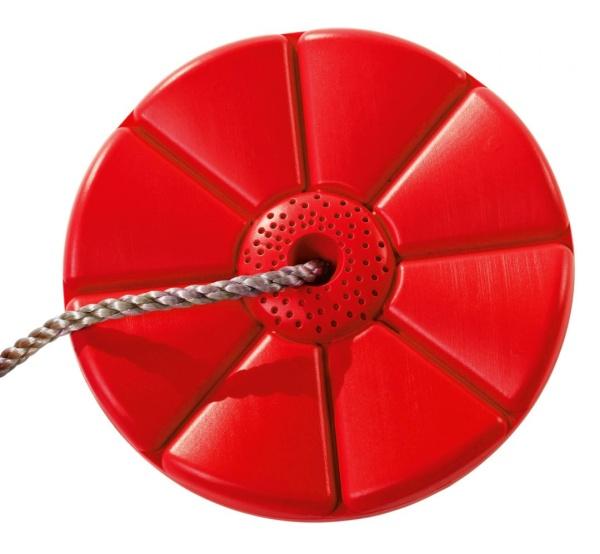 Plastový sedák kvetina (kruhový) - červený