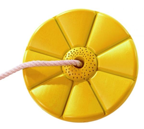 Plastový sedák kvetina (kruhový) - žltý