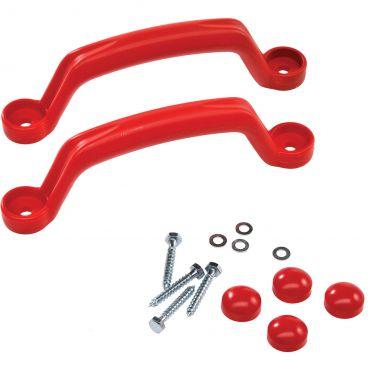 Súprava plastových úchytov farba červená - PU1