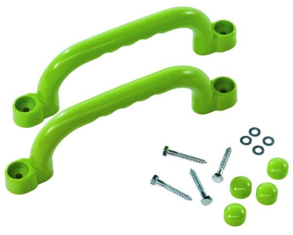 Súprava plastových úchytov farba zelená limetka