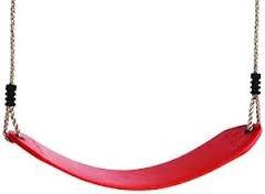 Pružný pásový sedák červený