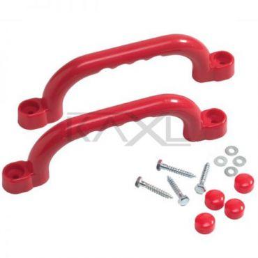 Súprava plastových úchytov farba červená - PU2
